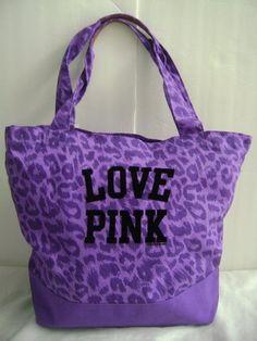 Victoria's Secret PINK Animal Print Purple Canvas « Clothing Impulse