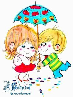 {C829274A-806E-4AA5-9ACB-18E56D548BFC:01} Little Boy And Girl, Girls In Love, Anime Chibi, Anime Art, Cute Characters, Fictional Characters, Kawaii Illustration, Vintage Prints, Book Design