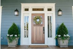 Farmhouse style entryway entrance the doors 67 ideas Exterior Colors, Exterior Paint, Exterior Design, Craftsman Exterior, Exterior Windows, Craftsman Homes, Exterior Siding, Navy House Exterior, Craftsman Style Front Doors