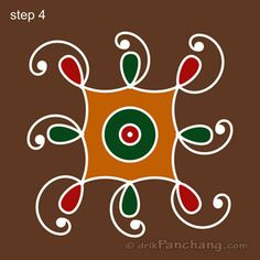 3x3 Dot Rangoli Step 4