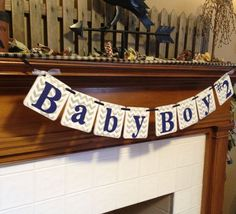 BABY Shower Decorations Chevron Stripes Baby Boy by ClassicBanners, $18.00