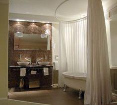 Home Decor Furniture Ideas. Wonderful ideas when contemplating home improvment. home improvement influencers. Clawfoot Tub Shower, Romantic Bathrooms, Small Bathroom, Bathroom Ideas, Bathroom Remodeling, Remodeling Ideas, Modern Bathroom, Home Decor Furniture, Furniture Ideas