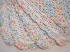Crochet Baby Blanket Newborn Baby Girl Baby by AfghansForBabies
