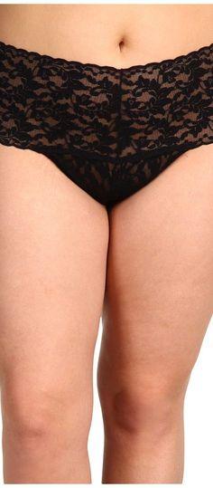 Hanky Panky Plus Size Signature Lace Retro Thong (Black) Women's Underwear - Hanky Panky, Plus Size Signature Lace Retro Thong, 9K1926X, Clothing Women's Intimates Panties, Underwear, Bottom, Apparel, Clothes Clothing, Gift, - Fashion Ideas To Inspire