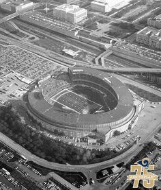 Long before they were the St. Louis Rams, the Cleveland Rams took to the gridiron in the American Football League (AFL) in 1936. The Cleveland Rams joined the NFL in 1937, playing at Cleveland Municipal Stadium in 1937, 1939, 1940, 1941 and 1945. The Cleveland Rams also played games at League Park, the Rubber Bowl and Shaw Stadium during their Ohio tenure.