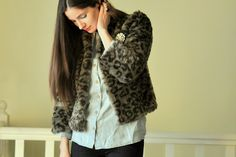 DIY Boxy Faux Fur Coat - FREE Sewing Pattern and Tutorial