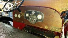 Photo of the dash before we restore it.