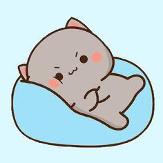Cute Cartoon Images, Cute Cartoon Drawings, Cute Images, Cute Anime Cat, Cute Cat Gif, Panda Wallpapers, Cute Cartoon Wallpapers, Mochi, Cat Doodle