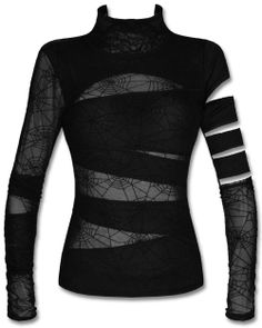 PUNK RAVE BLACK WIDOW TOP