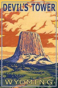 Devil's Tower, Wyoming Poster | #affiliate