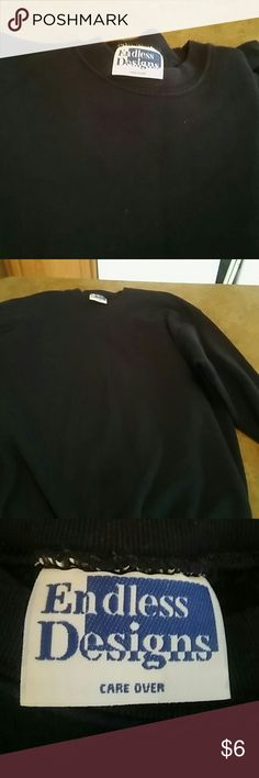 Sweat shirt Dark blue long sleeve sweat shirt. Only worn once. Endless Designs Tops Sweatshirts & Hoodies