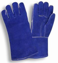 HandFortress Blue Split Cow Welders Glove