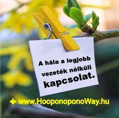 Hálát adok a mai napért. A hála a legjobb vezeték nélküli kapcsolat. Ingyenes, láthatatlan, mindig kéznél van, működik. Így szeretlek, Élet!  Köszönöm. Szeretlek ❤ ⚜ Ho'oponoponoWay Magyarország