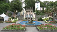 Portmeirion Tourism: Explore Portmeirion with Expedia. Bundle Flights & Hotels on Your Portmeirion Trip to Save Big Port Meirion, Flight And Hotel, Small Places, North Wales, Wonderful Places, Tourism, Scenery, Patio, Prisoner