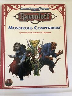 Advanced Dungeons Dragons 2153 Ravenloft Monstrous Compendium Creature Darkness  | eBay