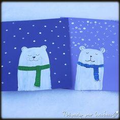 Lední medvědi Painting Lessons, Kids Crafts, Snoopy, Children, Fictional Characters, Advent, Weddings, Art, Winter