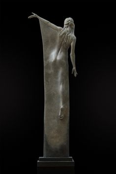 """'Seraphina' Limited edition bronze sculpture Height – circa 32"""" (92cm) by Michael Talbot"""
