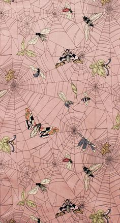 Alexander Henry - A Ghastlie Web pattern (wallpaper design? Web Patterns, Textile Patterns, Print Patterns, Surface Pattern Design, Pattern Art, Motif Design, Textile Prints, Textile Design, Textiles