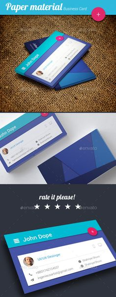 Creative Minimal Business Card - Business card template paper