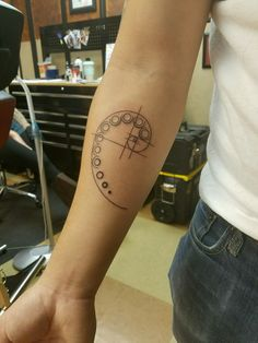 My new Golden Ratio Spiral tattoo!