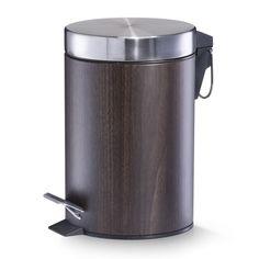 3 L Metal Bin Zeller Colour: Walnut Sensor Bins, Bathroom Bin, Plastic Bins, Family Kitchen, Recycling Bins, House Colors, Storage Organization, Stainless Steel, Home Decor