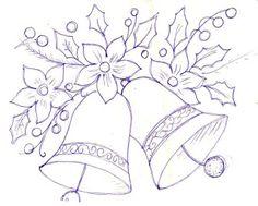 Christmas Embroidery...   Artes da Nil - Riscos e Rabiscos: sinos de Natal