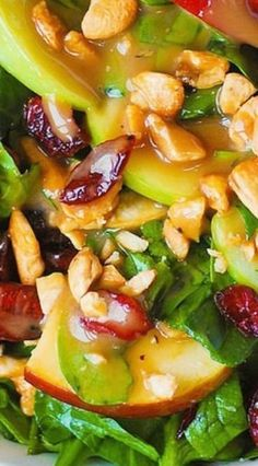 Cranberry Spinach Salad, Spinach Salad Recipes, Best Salad Recipes, Salad Dressing Recipes, Healthy Recipes, Salad With Spinach, Salad Dressings, Soup And Salad, Food Combining