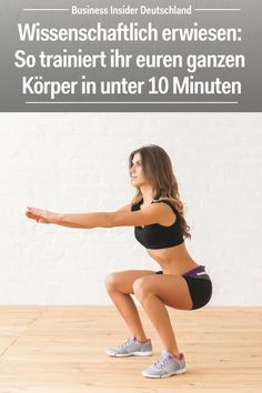 Wissenschaftlich erwiesen: So trainiert ihr euren ganzen Körper in unter 10 Minuten The workout is ideal for those who have little time for exercise or do not want to work out in the gym. Fitness Workouts, Yoga Fitness, Fitness Motivation, Fitness Routines, Physical Fitness, Fitness Goals, Fun Workouts, At Home Workouts, Health Fitness
