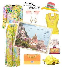 """""""Get Happy: Pops of Yellow"""" by horcal ❤ liked on Polyvore featuring Boutique Moschino, Moschino, N°21, Chanel, Marie Hélène de Taillac, Alexander McQueen, Missoni, Anna Sui and PopsOfYellow"""