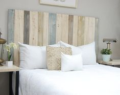 Shop a great selection of Farmhouse Mix Headboard King Size, Leaner Style, Handcrafted. Find new offer and Similar products for Farmhouse Mix Headboard King Size, Leaner Style, Handcrafted. Queen Size Headboard, Full Headboard, Headboard Ideas, Diy Pallet Headboard, Beach Headboard, Pallet Dyi, Picket Fence Headboard, Country Headboard, Cheap Diy Headboard