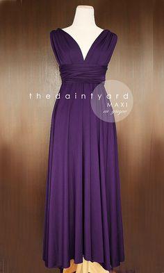 MAXI Grape Bridesmaid Dress Prom Dress Wedding di thedaintyard
