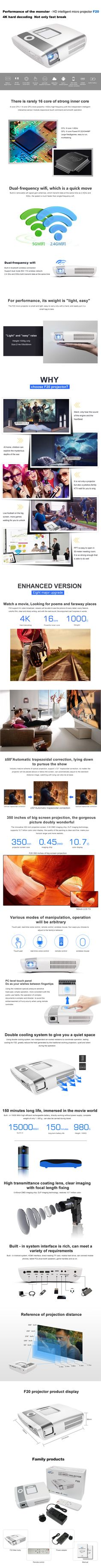 Touch Screen IWB Projectors MINI Full HD 1080p Intelligent Micro Projector LED Android WIFI Portable Projection