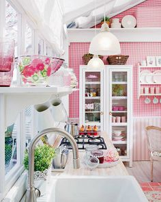 OMG here is the other side of the same cottage kitchen Mix and Chic: Home tour- A charming and cozy country cottage!