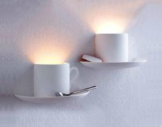 coffee cup lighting-- how cute would this be in a little cafe? I Love Coffee, My Coffee, Coffee Shop, Coffee Cups, Tea Cups, Real Coffee, Coffee Lovers, Deco Cafe, Luminaire Original
