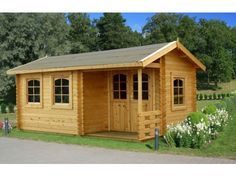 The Susanna by Palmako Log Cabins makes a great home office for the garden.