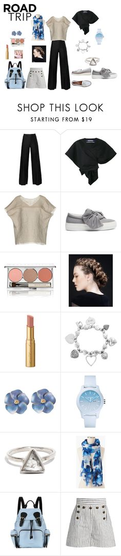 """""""Road trip"""" by phocka-alba on Polyvore featuring Chanel, Jacquemus, Marni, Joshua's, Chantecaille, Too Faced Cosmetics, ChloBo, Lacoste, Talbots and Burberry"""