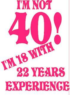40th Birthday tee