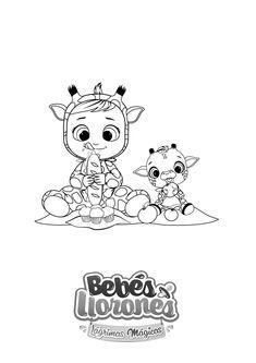 A Pintar Bebés Llorones Lágrimas Mágicas Animais Safari Desenhos Diversos Crianças