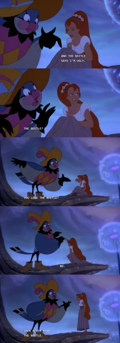 Great advice from Thumbelina's Sassy Gay Friend, Jacquimo.
