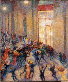 Riot in the Gallery - Umberto Boccioni