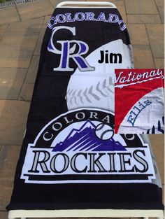 Baseball MLB Colorado Rockies Beach Towel Personalized Towel by CACBaskets on Etsy Personalized Towels, Colorado Rockies, Oversized Beach Towels, Mlb, Baseball, Trending Outfits, Etsy, Baseball Promposals, Personalized Napkins