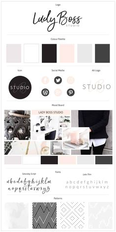 Portfolio Lady Boss Studio Looking For That Perfect Blush Portfolio Lady Boss Studio Auf Der Suche Nach Dem Perfekten Rouge - Besondere Tag Ideen Branding Kit, Branding Your Business, Corporate Branding, Branding Ideas, Luxury Branding, Corporate Design, Business Cards, Logo Design, Brand Identity Design