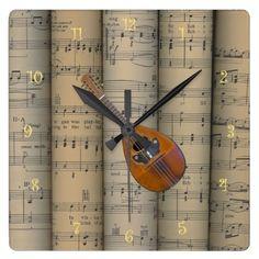 Mandolin ~ Rolled Sheet Music Background ~ Musical