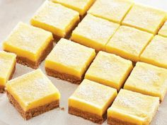 Everyone loves homemade lemon squares! These lightly sweet and tart treats will wow guests at your next party. Get the recipe at Sobeys. Mini Desserts, Dessert Recipes, Lemon Squares, Quiches, Sweet Recipes, Food Processor Recipes, Sweet Tooth, Food Porn, Food And Drink