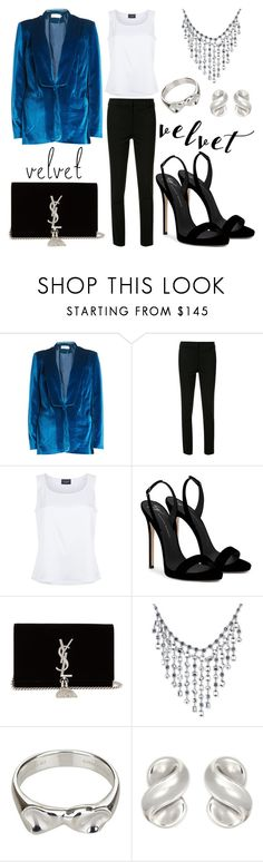 """Make it Velvet"" by marielle80 ❤ liked on Polyvore featuring self-portrait, Victoria Beckham, St. John, Giuseppe Zanotti, Yves Saint Laurent, Carolee and Tiffany & Co."