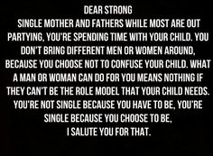 Single mothers and fathers