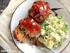 Individual turkey meat loaves stuffed with a medley of sautéed vegetables. Mini Garden Turkey Loaves - BudgetBytes.com