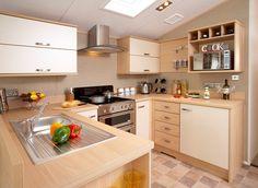 Atlas Sapphire caravan - kitchen   The spacious and well equipped kitchen in the Atlas Sapphire holiday caravan.