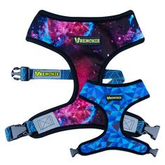 Frenchie Reversible Harness - GALAXY || Shop Harnesses, Collar, Leashes, ID Tags www.frenchiebulldog.com