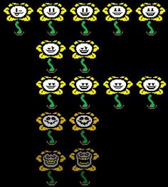 Flowey faces, Undertale